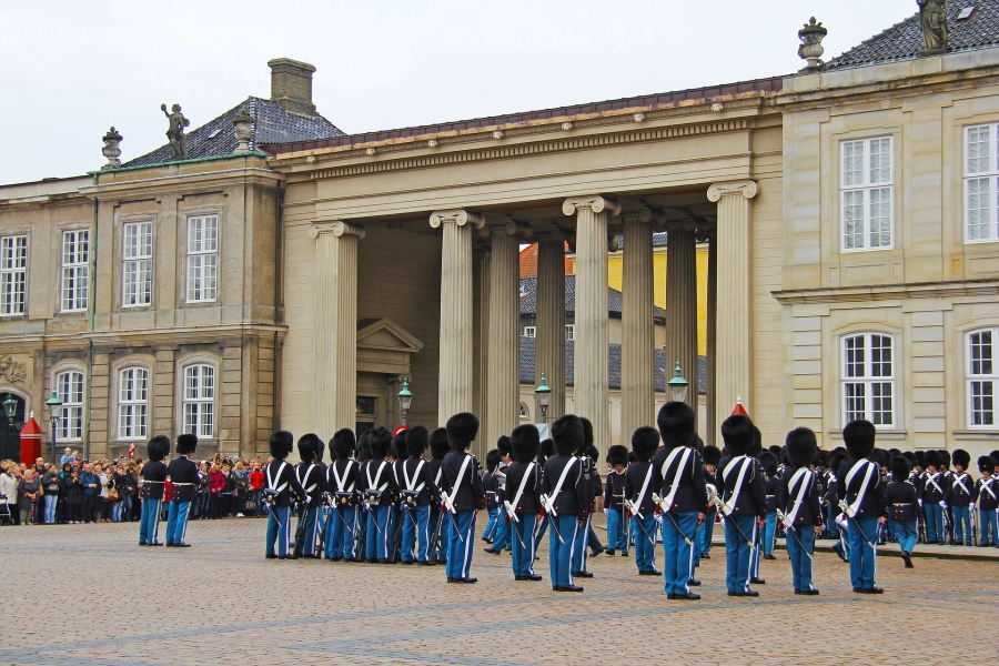 3 days in copenhagen denmark amalienborg change of guard